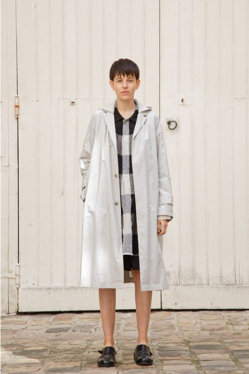 Coat Martin Light Grey by Ecole de Curiosites