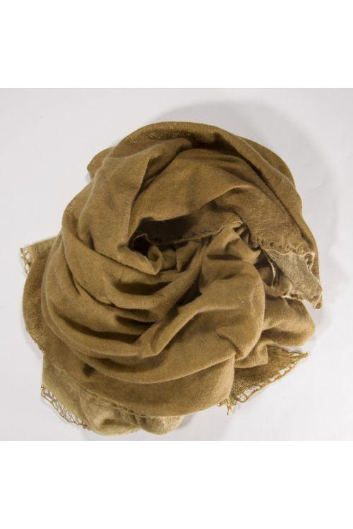 Cashmere Scarf Nomad Flat Dye Mustard by Warm-Me-TU