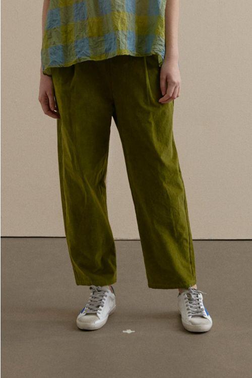 Cord Trousers Green-XS