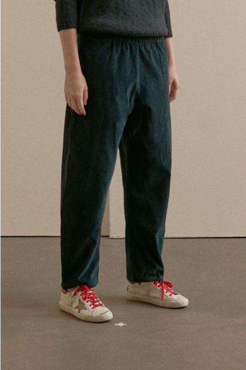 Cord Trousers Green Black by ApuntoB-XS
