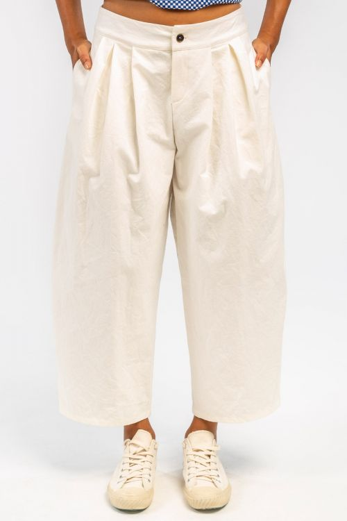 Cotton Trousers Milk by ApuntoB
