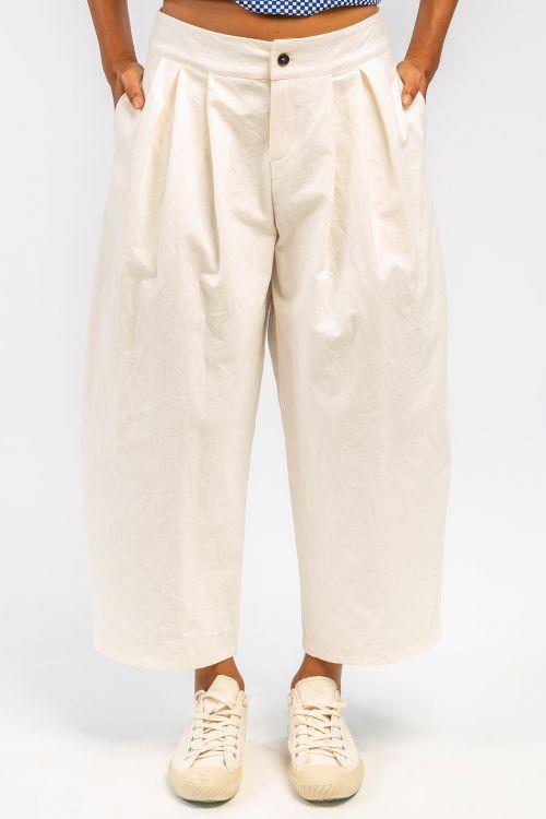 Cotton Trousers Milk by ApuntoB-XS