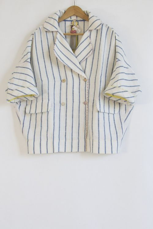 Striped Linen Jacket by Pero
