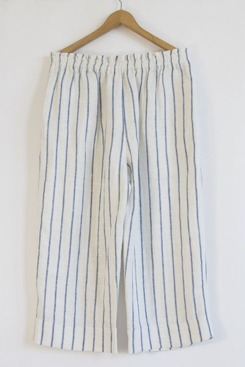 Striped Linen Trousers by Pero