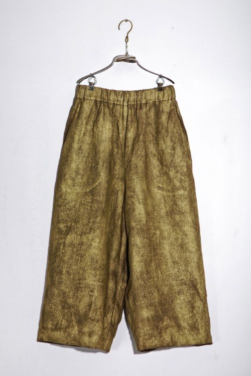 Linen Trousers Pierre Brass by Ecole de Curiosites