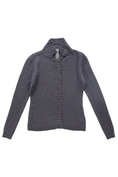 Cardigan Blue Grey Cashmere and Silk by Private0204-S