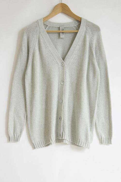 Cotton Cardigan Grey Melange by Private0204-S