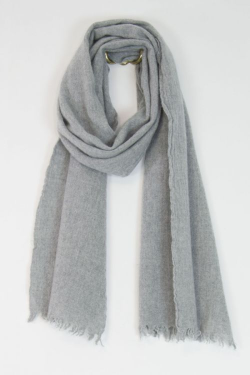 Handwashed Slow Cashmere Slim Sim Scarf Grey by Private0204