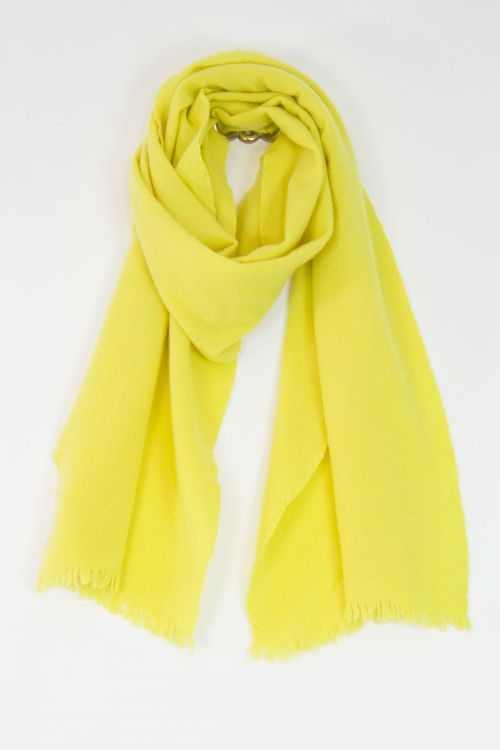 Handwashed Slow Cashmere Slim Sim Scarf Yellow by Private0204-TU