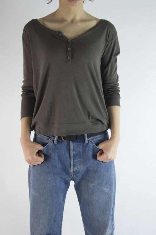 Soft Cotton T-Shirt Mink by Private0204-S