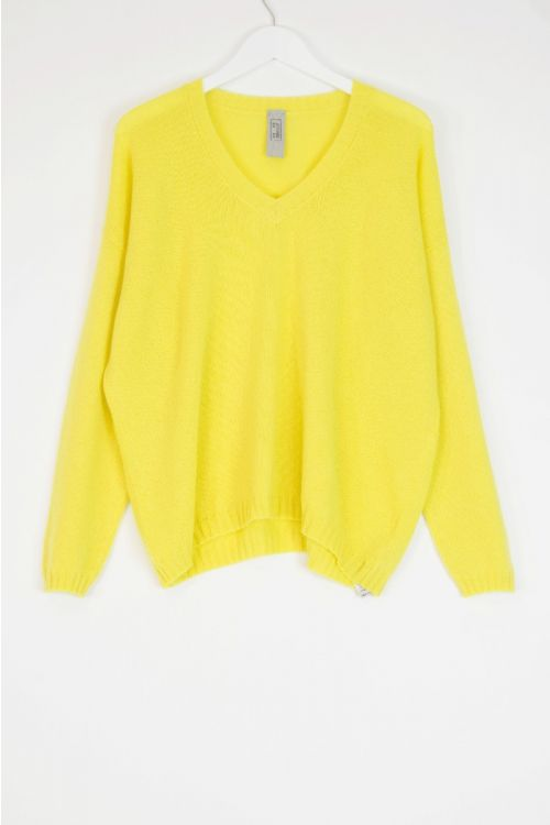 Oversized Cashmere Pullover Yellow by Private0204
