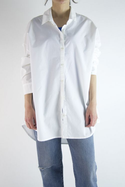 Oversized Cotton Shirt White by Private0204-S