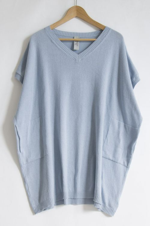Oversized Soft Sweater Sky Blueby Private0204