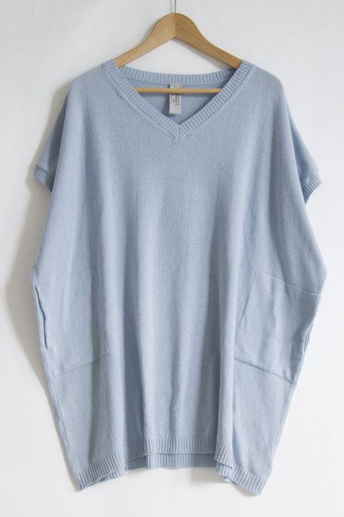Oversized Soft Sweater Sky Blueby Private0204-S