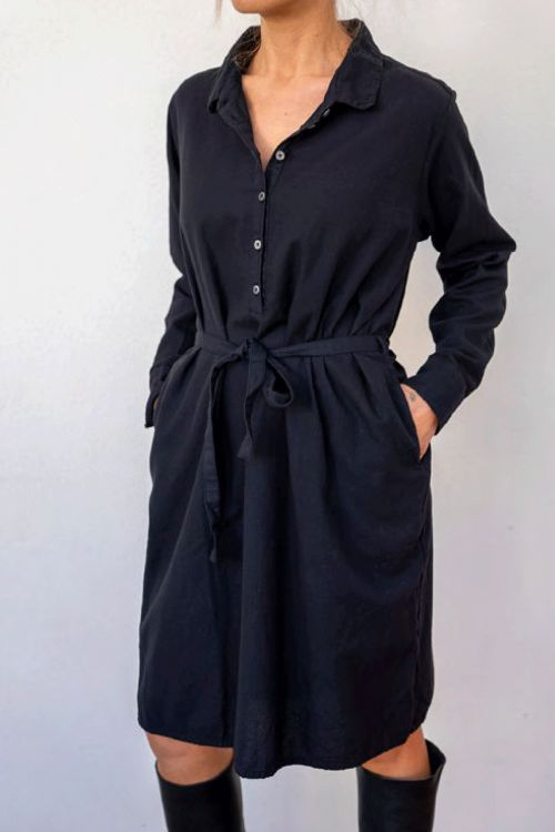 Shirt Dress Black by Private0204-S
