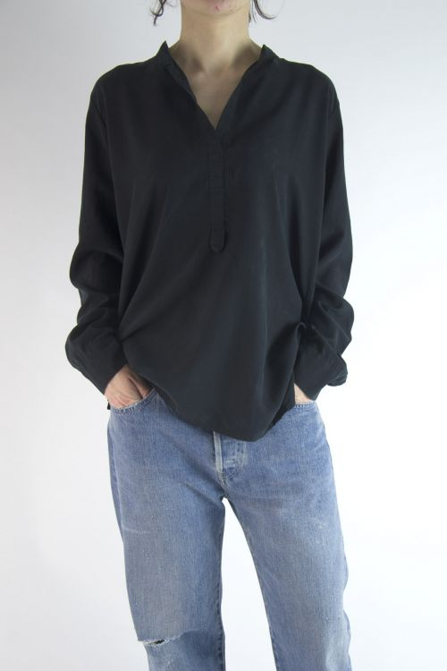 Silk Shirt Black by Private0204-S