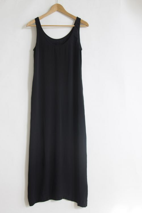 Long Silk Dress Black by Private0204-S