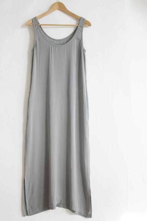 Long Silk Dress Grey Melange by Private0204