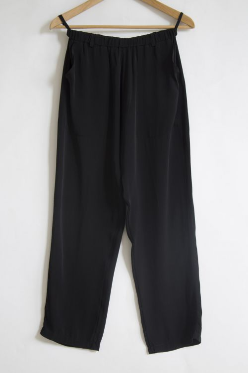 Silk Trousers Black by Private0204-S