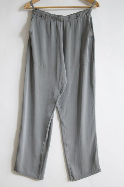 Silk Trousers Grey Melange by Private0204