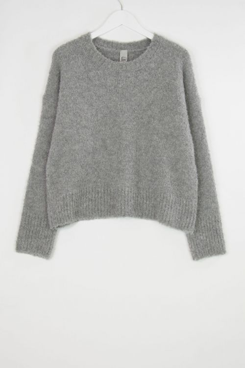 Soft Woolen Boucle Pullover Grey by Private0204