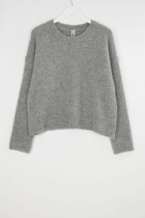 Soft Woolen Boucle Pullover Grey by Private0204-M