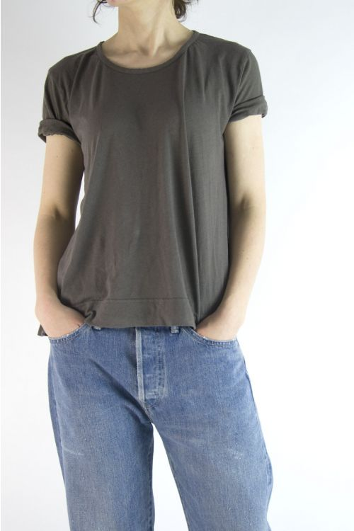Cotton and Linen T-Shirt Mink by Private0204