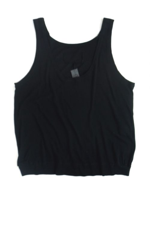 Soft Cotton Wide Tank Top Black by Private0204