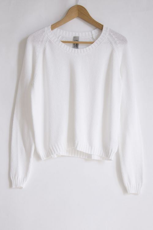 Cotton Sweater White by Private0204-S