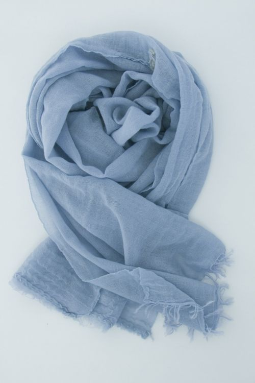 Handwashed Slow Cashmere Scarf Net Sky Blue by Private0204