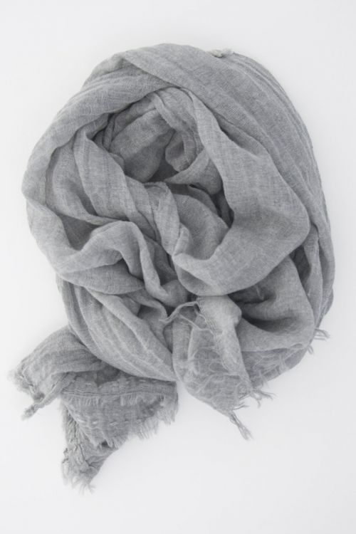 Handwashed Slow Cashmere Scarf Net Heather Grey by Private0204