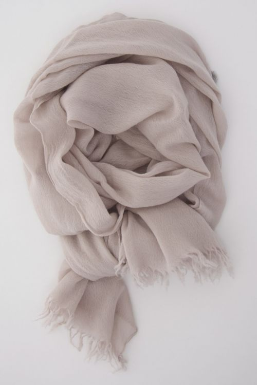 Handwashed Slow Cashmere Scarf Open Wheat by Private0204