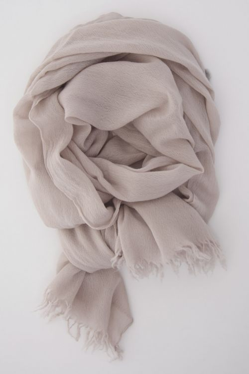 Handwashed Slow Cashmere Scarf Open Wheat by Private0204-TU