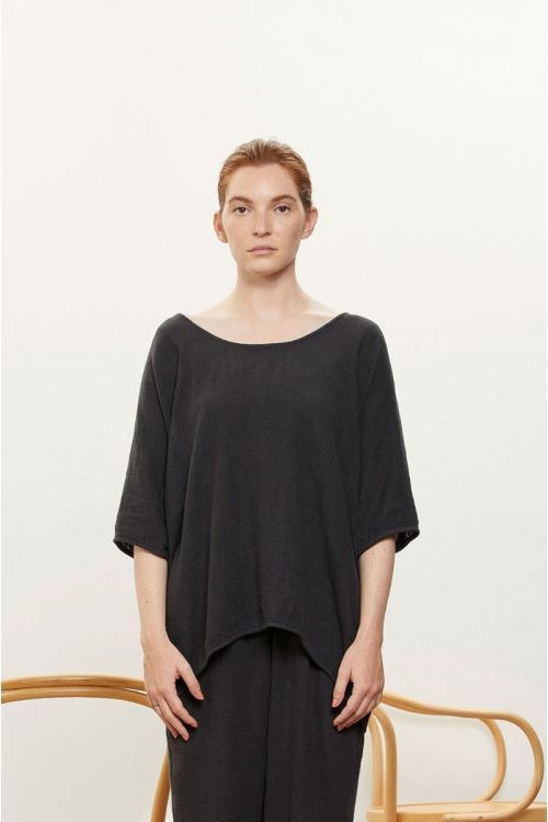 Loose Tee Faded Black by Black Crane