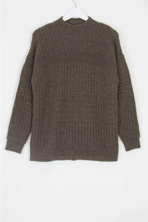 Ploughman Wool Sweater Bark by Toogood