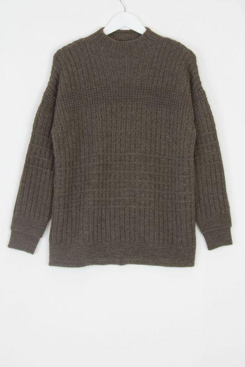 Ploughman Wool Sweater Bark by Toogood-S