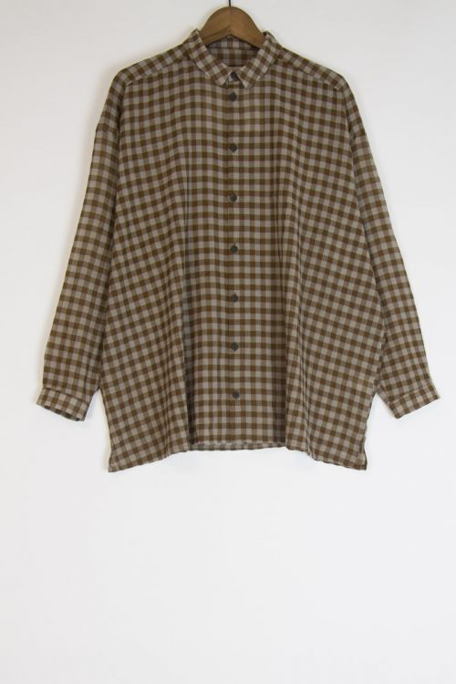 Wool and Cotton Draughtsman Shirt Tawny by Toogood