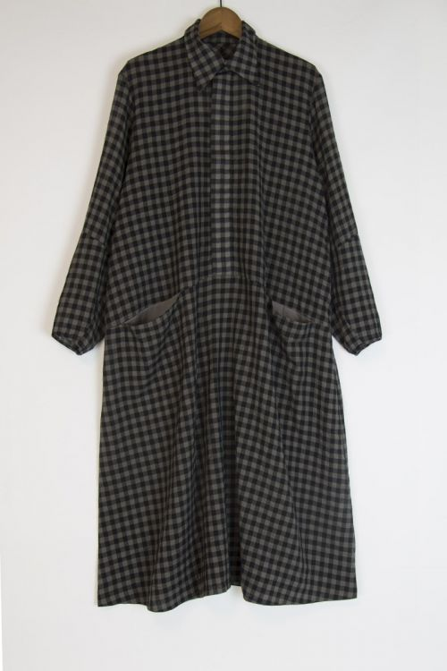 Wool and Cotton Housekeeper Dress Smoke by Toogood