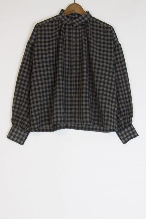 Wool and Cotton Shepherd Shirt Smoke by Toogood-S