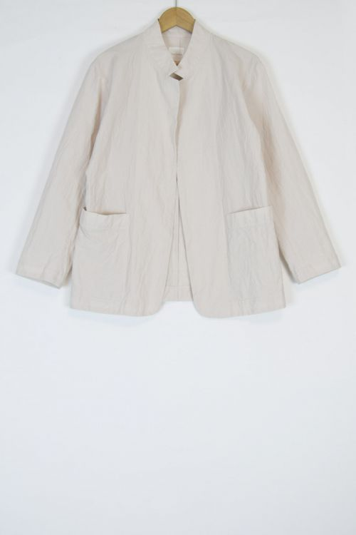 Cotton and Linen Tailored Jacket  Pale Pink by Toujours