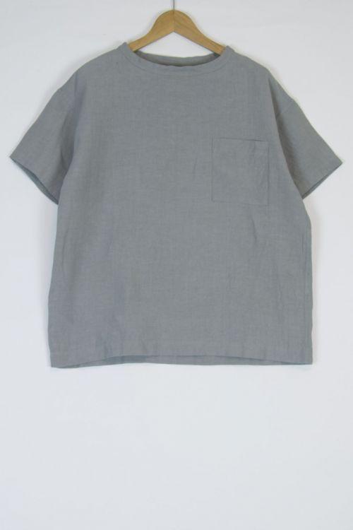 Linen Big T-Shirt Cloud Grey by Toujours