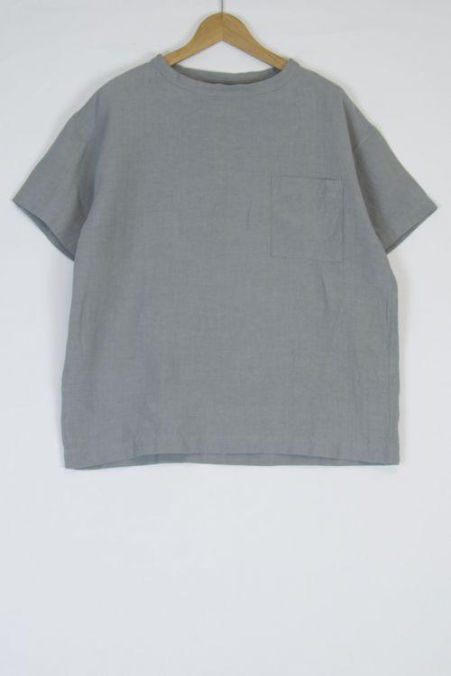 Linen Big T-Shirt Cloud Grey by Toujours-S