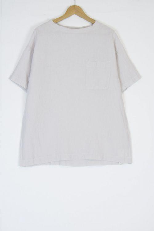 Linen Big T-Shirt Grayish Pink by Toujours