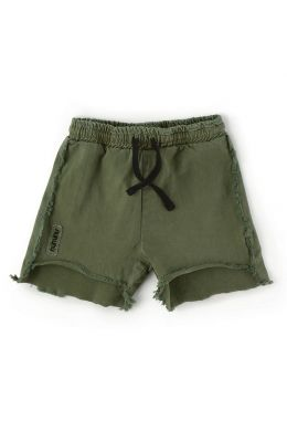 Baby Two Length Shorts Military Olive by nununu