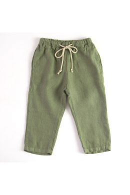 Baby Linen Trousers Green by Babe & Tess