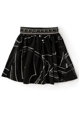 Baby Skirt Begginner's Tailor Kit Print Black by nununu