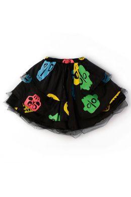 Baby Skirt Colorful Rowdy Mask Print by nununu