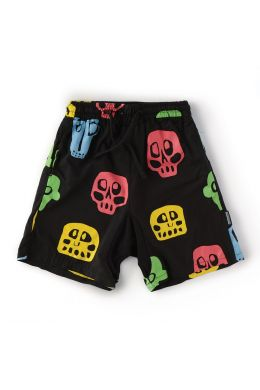 Baby Voile Shorts with Rowdy Masks Print by nununu
