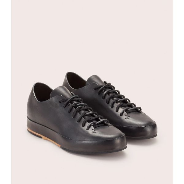 Hand Sewn Low Rubber Sneakers Black by Feit
