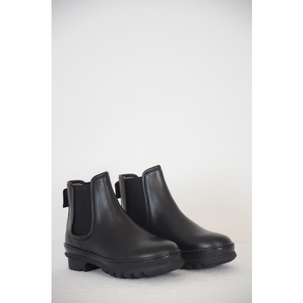 Leather Ankle Garden Boots Black by LEGRES